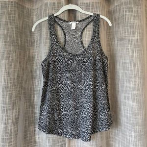 H&M Black and White Abstract Print Tank
